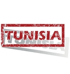 Tunisia outlined stamp vector