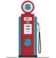retro gas pump vector image