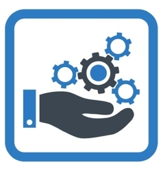 Mechanics service flat icon vector