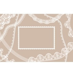 Lace ribbons card vector image