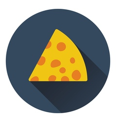 Cheese icon vector image