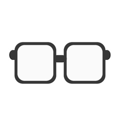 Squared frame glasses icon vector