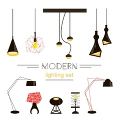 Modern light collection isolated on white vector