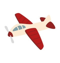 Airplane kid toy icon vector