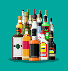 Alcohol drinks collection vector