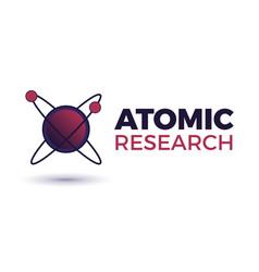 atomic science logo vector image