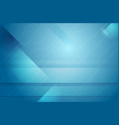 Blue abstract tech minimal background vector