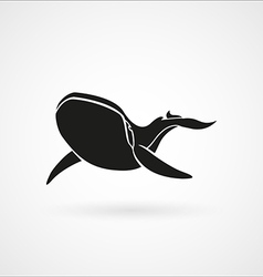 Blue whale black logo sign emblem isolated vector