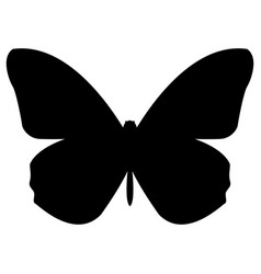 butterfly the black color icon vector image vector image