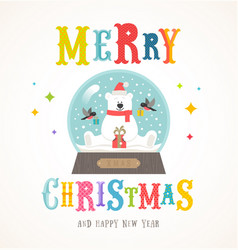 Cartoon flat style colorful christmas design vector