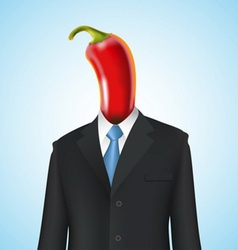 Chili pepper man vector