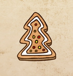 Christmas cookie cartoon vector