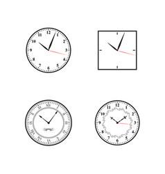 clock clock icon set vector image