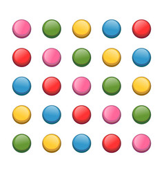 Colored push pin vector