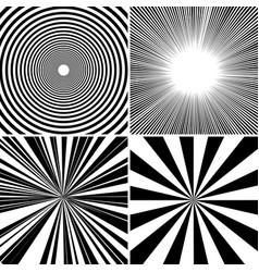 comic book monochrome backgrounds set vector image vector image