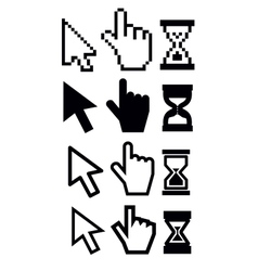 cursors icon vector image