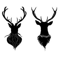 Deer Head4 vector image