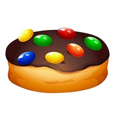 Doughnut with chocolate frosting vector