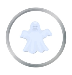 Ghost icon in cartoon style isolated on white vector