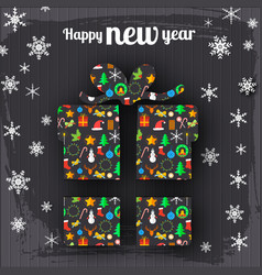 happy new year celebrate template vector image vector image