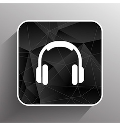 headphone icon music isolated hear funky white vector image