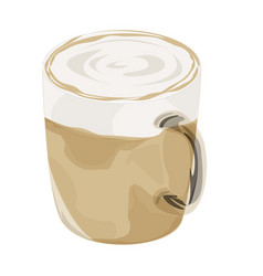 hot latte coffee icon vector image vector image