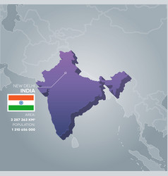 india information map vector image