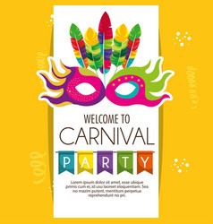 mask carnival party icon vector image