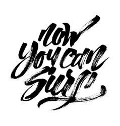 Now you can surf modern calligraphy hand vector