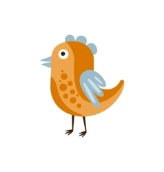 Orange and blue singing bird camping and hiking vector