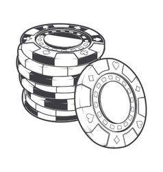 Stacks of gambling chips casino tokens vector image