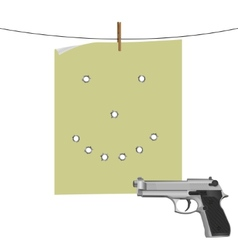 Target and gun vector image