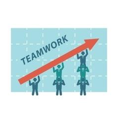 Teamwork of business people vector