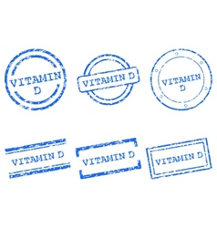 Vitamin d stamps vector