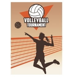 Volleyball sport and hobby design vector