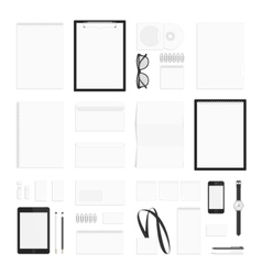 Blank corporate identity elements big set vector image