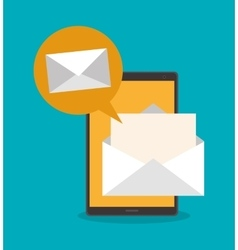 Smartphone and envelope of mail concept vector