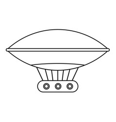 vintage helium air balloon icon outline style vector image