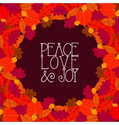 Background with autumn decor vector
