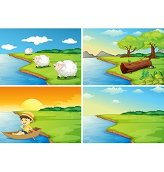 Countryside scenes vector