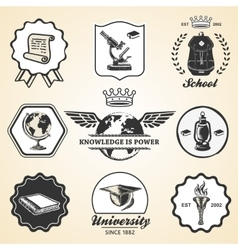 Education school academy university vintage symbol vector