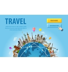 Travel famous monuments of the world vector