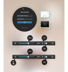 Information icon graphic interface for video vector