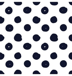 Hand drawn seamless indigo dot texture vector