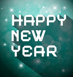 Happy New Year Title - Slogan on Winter Blurred vector image