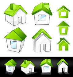 Green eco homes vector