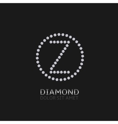 Z letter with diamonds vector