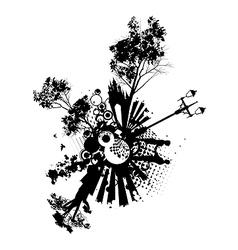 Park Romance Concept vector image