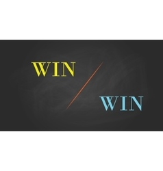 Win win solution concept written on the text with vector