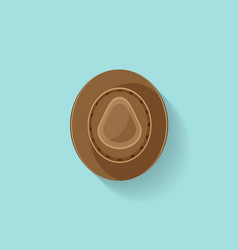 Hat in a flat style travel cowboy cap fashion vector